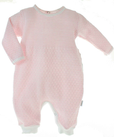Baby Girls Pink Long Sleeve Sleeper Take Home Outfit