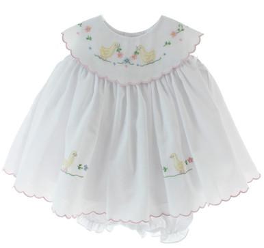 Baby Girls Easter Dress with Ducks Willbeth