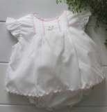 Newborn Girls White Pink Take Home Diaper Set
