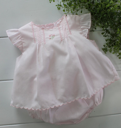 Newborn Girls Pink Diaper Set Take Home Outfit