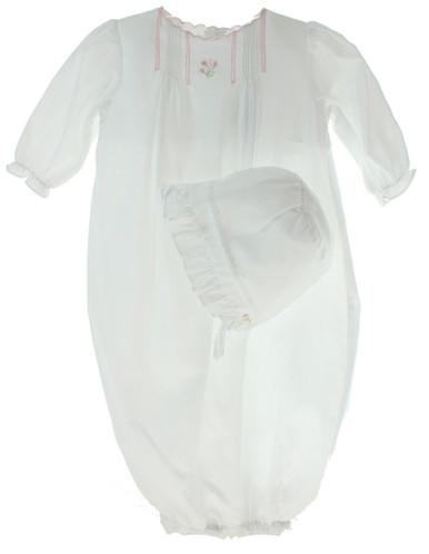 Newborn Girls Dressy Take Home gown & bonnet