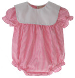 Rosalina Girls Pink Gingham Bubble