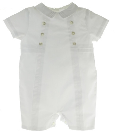 Boys White Christening Shortall Outfit Sarah Louise