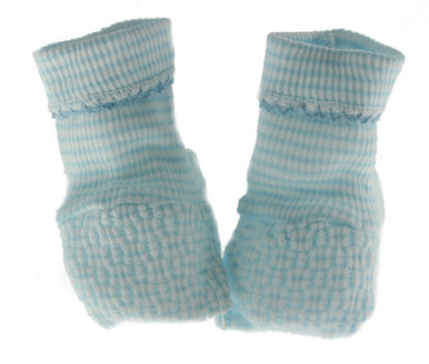 Newborn Blue Sock Booties