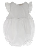 Girls White Sleeveless Bubble Outfit Monogrammable  | Rosalina