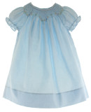 Baby Girls Blue Smocked Daygown Rosalina