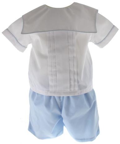 Rosalina Boys Blue White Short Set