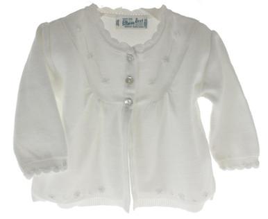 Girls Long Sleeve White Dressy cardigan Sweater