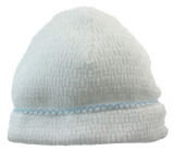 Boys Take Home Hat White with Blue Trim | Paty Inc