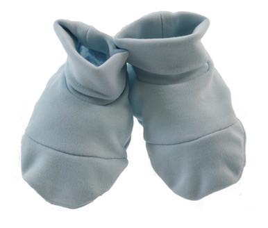 Baby Boys Blue Pima Cotton bootie socks