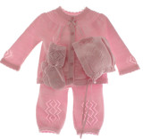Newborn Girls Pink 4 piece layette set