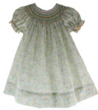 Girls Thanksgiving Smocked Dress