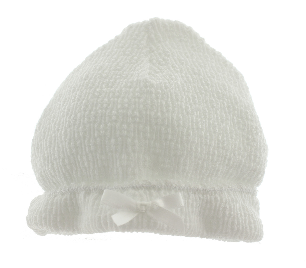 9dc98b29125 Paty Inc White Knitted Hat Unisex. Click to enlarge
