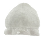Paty Inc White Knitted Hat Unisex