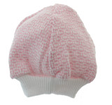 Newborn Girls Pink Knitted Beanie Hat