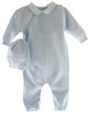 Baby Boys Blue Knitted Romper Layette Set Feltman Brothers