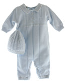 Newborn Boys Blue Knitted Long Romper Feltman 6006