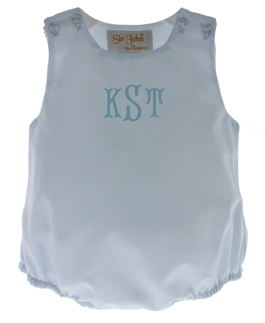 d5f16e72d361 Infant Boys Blue Monogram Romper Outfit