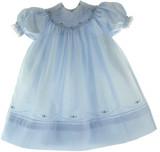 Feltman Girls Blue Smocked Bishop Dress Toddler 27212B