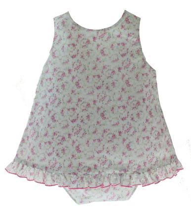 Baby Girls Open Back Summer Short Set Floral