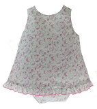 Baby Girls Open Back Summer Short Set Floral