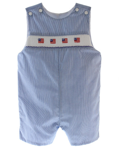 Boys 4th of July Outfit American Flag Smocking