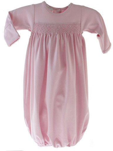 Baby Girls Pink Smocked Take Home Gown Magnolia