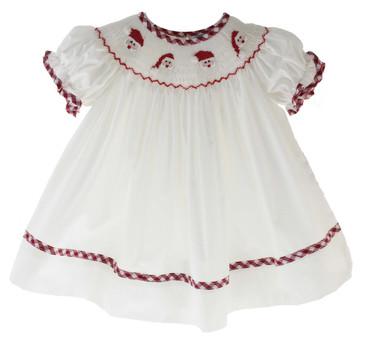Baby Girls Smocked Santa Clause Bishop Dress