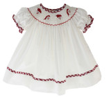 Baby Girls Smocked Santa Clause Bishop Dress