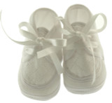 Baby Boys White Christening Baptism Shoes Willbeth
