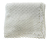 Baby Trousseau White Knitted Blanket