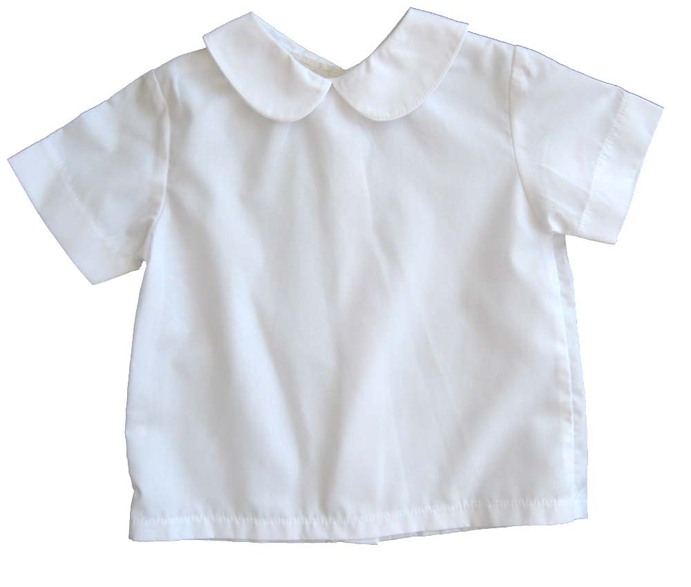 Infant Toddler Boys White Shirt Peter Pan Collar