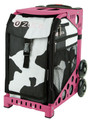 Zuca Insert Bag - Muga  Insert Color: MUCA (Insert Only) Happy MÜCA's (pronounced like ZÜCA's) come from California! Wait until you see the inside! The interior of this bag is pink.  Color Black & White     Price $ 47.50     Zuca Frames Sold Separately