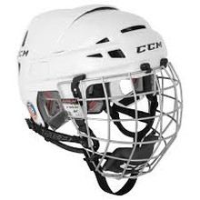 "The CCM Vector 08 Hockey Helmet with Cage is a traditional style pro-approved helmet.  This helmet has many of the same features as the Vector 10 helmet, with the biggest difference being the liner.  The V08 helmet has a mechanically attached dual density pro preferred VN liner, that offers great protection but is known for its comfort. The aerodynamic shell design with maximum ventilation really helps increase airflow and keeps the player cool throughout the game.  This helmet comes with the FM06 cage which has the same basic cage construction as the FM580, but with a single density chin cup. Many players prefer the silver cage because silver does not blend in with the ice or the puck.  It also gives the player a flashy ""dangle-cage"" look.  The shell is designed for an extended field of vision, giving the Vector 08 and 10 the industry's widest field of vision.  The lift and lock tool-free side adjustment makes adjusting the size a breeze."