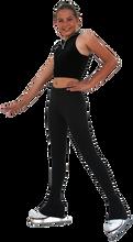 """Chloe Noel P23 Skating Pants  All Black 2"""" Contrast Waist Pants  87% polyester 13% Spandex"""