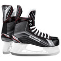The Bauer Vapor X200 Ice Hockey Skates are the entry-level model. The features: constructed of a premium nylon quarter package and an Injected TPR outsole. The Bauer X200 skate comes with a White Felt Tongue and a Tuuk LightSpeed Pro Holder.   Sizing Guidelines: Bauer skates generally fit 1 1/2 sizes down from your regular shoe size