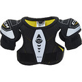 """The CCM Tacks Youth Hockey Shoulder Pads are the perfect first pad for beginners. Its soft foam design ensures that it fits comfortably, while it uses thick foams and plastic protect the arms, shoulders, sternum and spine. It attaches with two stomach straps and two arm straps to make sure the shoulder pad is in place when they need it.   Model Number: SPTACK Heritage: Reebok 12K KFS Level of Play Guideline: Recreational CCM Sizing Guidelines: Shoulder Pad Size / Player Height / Chest Circumference YTH SM / 3'4"""" - 4'0"""" / 18"""" - 22"""" YTH MD / 3'8"""" - 4'4"""" / 22"""" - 26"""" YTH LG / 4'0"""" - 4'8"""" / 24"""" - 28"""""""