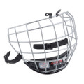 DETAILS  CCM Fitlite 40 Facemask  WIRES: • Thin Round Wires  CHIN CUP: • Comfort foam with wire guard  SAFETY STRAP: • Attached beneath the chin to work as a single unit  • Designed for comfort and protection