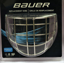 Bauer RP ProfileX Senior Goalie Wire Cage  DETAILS  Certified Cage designed to fit ALL Bauer Profile helmets CSA/HECC/CE Certified