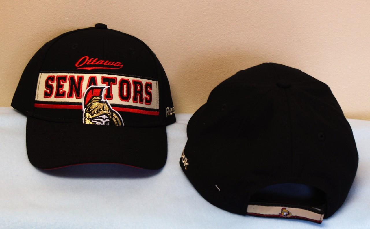best website c6e56 5e032 Reebok Ottawa Senators Adjustable Hat - Black