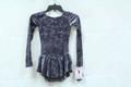 Mondor Model 2767 Ladies Skating Dress  Description:  Glitter velvet dress, long sleeves Little design at back Hair tie included Fabric:  90% polyester, 10% elastane