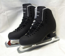 Jackson Freestyle Fusion FS2192 Men's Figure Skates. These boots are for intermediate skaters working on single jumps. They feature lightweight Fusion Soles and attached Ultima Aspire XP Blades.  Cut resistant Microfiber upper, has remarkable flexibility, versatility and strength. U-shaped cuff pattern and adjusted back height allows for maximum flexibility without looksing support. Rolled lining eliminates pressure and irritation on tendons above ankles. Specially re-designed covered tongue with soft top-line eliminates shin irritation; lace slits in tongue keep tongues in place. Reinforced heel with aluminum plates eliminates sole separation. Fusion Sole is lightweight, torque resistant; rubber inlay provides non-slip blade mount and superior shock absorption. Made on Jackson's Elite last to provede a wider toe box and narrower heels, reduced pressure and better heel lock. Solid Brass Hooks won't break or bend.  Ultima Aspire XP Blade attached with screws. Heat Moldable Stiffness Rating 49 - Moderate