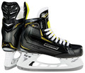 The construction of the Supreme S27 youth skates is a 3-D Trueform tech PU quarter package that provides a softer feel that encourages an anatomical fit for youth players. The lightweight memory foam padding at the ankle on the Supreme S27 youth hockey skates provides a comfortable feel right out of the box. The Bauer Supreme S27 youth ice hockey skates also feature and Hydrophobic Microfiber liner with faster drying capabilities, a 2-piece 30 oz felt tongue with mid-density foam metatarsal guard to prevent lace bite, a TPR outsole, and the Lightspeed Pro II holder with stationary stainless steel runners.   Quarter Package: 3-D Trueform tech PU Lining Material: Hydrophobic microfiber Ankle Padding: Lightweight memory foam ankle pads Tongue: 30oz felt tongue with mid-density foam metatarsal guard Outsole: TPR Blade Holder: TUUK LIGHTSPEED Pro II Runner: TUUK stainless steel