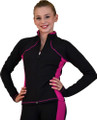 Chloe Noel JS08 Skating Jacket  JS08  Supplex Side Seams Jacket Supplex Lyca Fabric: 87% Supplex, 13% Lyca Made in USA