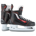 CCM Jetspeed 250 Hockey Skate  Quarter: • Synthetic embossed shell  Liner: • Heavy Duty Microfiber  Outsole: • Low Profile injected  Footbed: • CCM Footbed  Holder/Runner: • Non Replaceable stainless steel runner