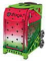 Zuca Insert Bag  Watermelon Dew (Insert Only)  Melon madness is taking over. Inspired by the sweet and juiciness of freshly sliced watermelon fruit, this distinctive design is tastefully indicative of summertime. Succulent shades of pink and ripe green hues come together with seed-like polka dots to give the print a look that will make your mouth water.  Frames sold Separately
