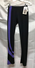 """Chloe Noel P26 Crystal Swirl Skating Pants  Lightly Sanded Poly Spandex Fabric: 87% Polyester, 13% Spandex Waistband elastic width: 1"""" Made in US with matching Swarovski crystals"""