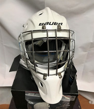 Bauer 930 Senior Goalie Mask  Level Recreational Liner Comfort Foam Shell Lexan EXL Wire Enhanced Puck View Certified Wire (Material 1057242) Other Extra Sweat Band