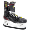 Bauer Vapor XShift Pro Senior Hockey Skates  FeatureDescription LevelPerformance Key UpgradesFAST FLEX System, Asymmetrical Toe Cap, Recoil Tongue Quarter Package3D-Lasted Fiber Composite with X-Rib Pattern and Comfort Edge Padding LinerLock-Fit with Wear Patch Ankle PaddingAero Foam Memory Foam TongueRecoil Tongue - Three Piece 48oz Felt with Injected Metatarsal Guard FootbedFoam Fit+ Footbed with Lined Memory Foam Comfort ThermoformableThermoformable Upper OutsolePro TPU Outsole with PET Film Blade HolderTUUK Lightspeed Edge SteelTUUK LS3+ Black Stainless