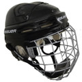 Bauer Model 4500 Hockey Helmet With Cage  Helmet  Dual density cellflex foam Dual ridge crown Ergo translucent ear covers Quick tool adjustment Floating pro ear loops CSA, HECC & CE Certified Face Cage  Profile II Classic design profile with flat shape Enhanced visual areas with oval wire Dual-density floating chin cup w/ moisture channels CSA, HECC, CE certified
